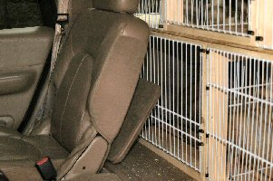 The dog boxes can be opened into the interior of the vehicle as well.