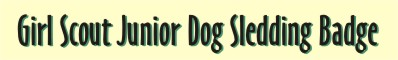 Girl Scout Junior Dog Sledding Badge